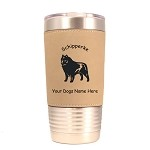 3872 Schipperke Standing #1 20 oz Polar Camel Tumbler with Lid Personalized with Your Dog's Name