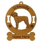 3890 Schnoodle Standing Ornament Personalized with Your Dog's Name