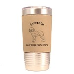 3890 Schnoodle Standing #1 20 oz Polar Camel Tumbler with Lid Personalized with Your Dog's Name