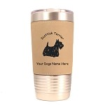 3895 Scottie Standing #1 20 oz Polar Camel Tumbler with Lid Personalized with Your Dog's Name