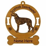 3902 Scottish Deerhound Standing Ornament Personalized with Your Dog's Name
