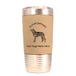 3902 Scottish Deerhound Standing #1 20 oz Polar Camel Tumbler with Lid Personalized with Your Dog's Name
