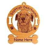 3903 Scottish Deerhound Head Ornament Personalized with Your Dog's Name