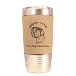 3908 Sealyham Terrier Head #1 20 oz Polar Camel Tumbler with Lid Personalized with Your Dog's Name