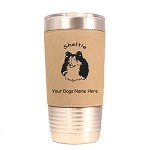 3936 Sheltie Head #2 20 oz Polar Camel Tumbler with Lid Personalized with Your Dog's Name