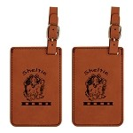 Sheltie Jumping Luggage Tag 2 Pack L3938