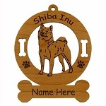 3952 Shiba Inu Ornament Personalized with Your Dog's Name
