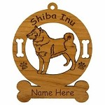 3953 Shiba Inu Standing 2 Ornament Personalized with Your Dog's Name