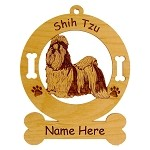 3961 Shih Tzu Standing Ornament Personalized with Your Dog's Name