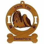3962 Shih Tzu Standing Ornament Personalized with Your Dog's Name