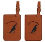 Siberian Husky Sitting Luggage Tag 2 Pack L3978