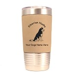 3978 Siberian Husky Sitting #1 20 oz Polar Camel Tumbler with Lid Personalized with Your Dog's Name