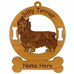 3985 Silky Terrier Standing Ornament Personalized with Your Dog's Name