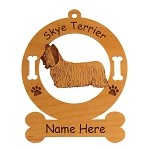 3991 Skye Terrier Standing #2 Ornament Personalized with Your Dog's Name