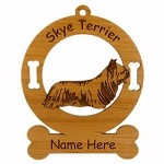 3992 Skye Terrier Standing Ornament Personalized with Your Dog's Name