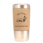 3992 Skye Terrier Standing #1 20 oz Polar Camel Tumbler with Lid Personalized with Your Dog's Name