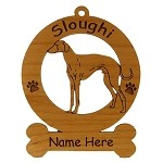 3995 Sloughi Standing Ornament Personalized with Your Dog's Name