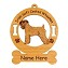 3998 Irish Soft Coated Wheaten Standing Ornament Personalized with Your Dog's Name