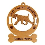 4000 Soft Coated Wheaten Gaiting Ornament Personalized with Your Dog's Name