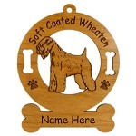 4002 Soft Coated Wheaten Standing Ornament Personalized with Your Dog's Name