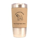 4002 Soft Coated Wheaten Standing #1 20 oz Polar Camel Tumbler with Lid Personalized with Your Dog's Name