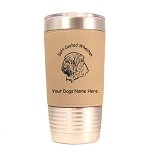 4003 Soft Coated Wheaten Head #1 20 oz Polar Camel Tumbler with Lid Personalized with Your Dog's Name