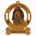 4013 Spinone Italiano Head Ornament Personalized with Your Dog's Name