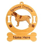 4014 Spinone Italiano Standing Ornament Personalized with Your Dog's Name