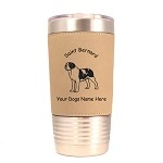 4121 Smooth Saint Bernard Standing #1 20 oz Polar Camel Tumbler with Lid Personalized with Your Dog's Name