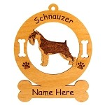 4147 Standard Schnauzer Standing Ornament Personalized with Your Dog's Name