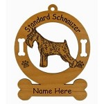 4148 Standard Schnauzer Standing Ornament Personalized with Your Dog's Name