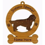 4155 Sussex Spaniel Standing Ornament Personalized with Your Dog's Name