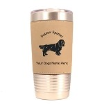 4155 Sussex Spaniel Standing #1 20 oz Polar Camel Tumbler with Lid Personalized with Your Dog's Name