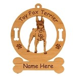 4181 Toy Fox Terrier Standing Angled Ornament Personalized with Your Dog's Name