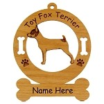 4182 Toy Fox Terrier Standing Ornament Personalized with Your Dog's Name