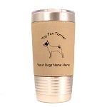 4182 Toy Fox Terrier Standing #1 20 oz Polar Camel Tumbler with Lid Personalized with Your Dog's Name