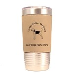 4187 Treeing Walker Coonhound Standing #1 20 oz Polar Camel Tumbler with Lid Personalized with Your Dog's Name