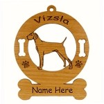 4192 Vizsla Standing Ornament Personalized with Your Dog's Name