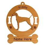 4194 Vizsla Standing #2 Ornament Personalized with Your Dog's Name