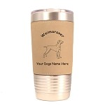 4201 Weimaraner Standing #1 20 oz Polar Camel Tumbler with Lid Personalized with Your Dog's Name