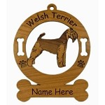 4209 Welsh Terrier Standing Ornament Personalized with Your Dog's Name