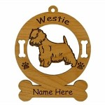 4215 Westie Standing Ornament Personalized with Your Dog's Name