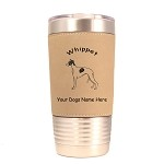 4225 Whippet Standing #1 20 oz Polar Camel Tumbler with Lid Personalized with Your Dog's Name