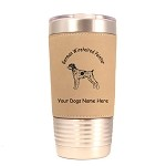 4236 German Wirehaired Pointer Standing #1 20 oz Polar Camel Tumbler with Lid Personalized with Your Dog's Name