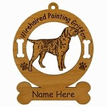 4245 Wirehaired Pointing Griffon Standing Ornament Personalized with Your Dog's Name