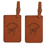 Wirehair Pointing Griffon Luggage Tag 2 Pack L4245
