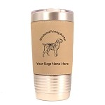 4245 Wirehaired Pointing Griffon Standing #1 20 oz Polar Camel Tumbler with Lid Personalized with Your Dog's Name