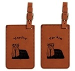 Yorkie Standing Luggage Tag 2 Pack L4253