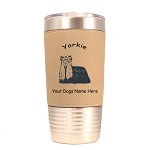 4253 Yorkie Standing #1 20 oz Polar Camel Tumbler with Lid Personalized with Your Dog's Name