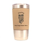 4254 Yorkie Head #1 20 oz Polar Camel Tumbler with Lid Personalized with Your Dog's Name